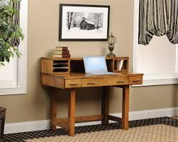 image of wood small desk hutch