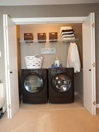 stackable washer and dryer closet