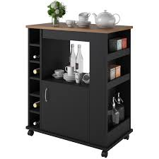 Kitchen Storage Carts Cabinets Furniture Modern Black Mobile Kitchen Carts And Portable Kitchen