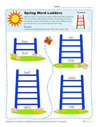word ladder spring worksheets for 2nd