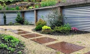corrugated metal retaining wall juniper and corrugated steel retaining walls corrugated metal and wood retaining wall