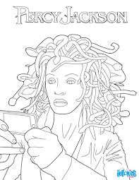 percy jackson 4 er3 source on medusa coloring page