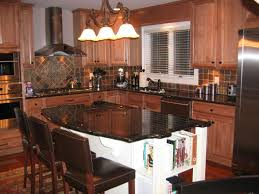 Kitchen Island With Granite Top And Seating Kitchen Room Designer Custom Gray Granite Countertops Two Lamp