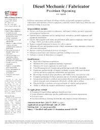 Diesel Mechanic Resume. Create My Resume Automotive