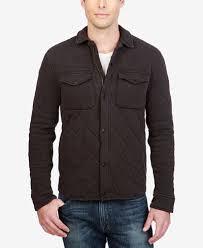 Lucky Brand Men's Quilted Western Shirt Jacket - Coats & Jackets ... & Lucky Brand Men's Quilted Western Shirt Jacket Adamdwight.com