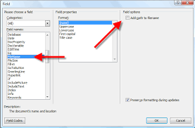 Microsoft Word Update All Fields Word Putting The File Path In The Document Cybertext Newsletter