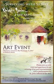Art Event Flyer Sjsa And Kimberly Boulon Fine Art Gallery To Host Jan 25