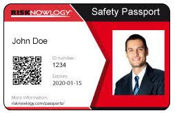 Safety Id Passport Card Risknowlogy