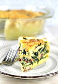 easy spinach quiche with bacon and
