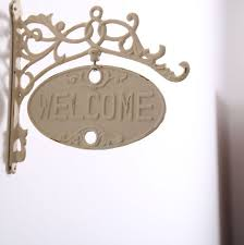 european vintage home decor iron cast welcome sign board plaques