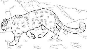 Baby Leopard Colouring Pages Snow Excellent Remarkable Cheetah
