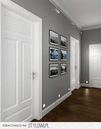 grey houses with white trim | Dark wood, gray walls and white trim. I