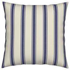 modern ticking stripe navy off white med white striped throw pillow contemporary outdoor cushions and pillows by roostery