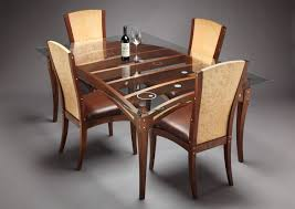 modern glass and wood dining table by size handphone tablet
