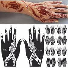 Indie Henna Dočasné Tetování šablony Kit Art Decal Pro Ruku Paže Nohy Nohy Tělo At Vova