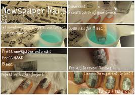 Newspaper Nails (DIY 1)   The Uptown Confidential