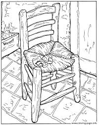 Small Picture Adult Van Gogh La Chaise Et La Pipe Coloring Pages Printable