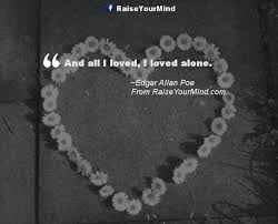 Edgar Allan Poe Love Quotes Amazing Edgar Allan Poe Quotes Sayings Verses Advice Raise Your Mind