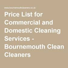 Domestic Cleaning Price List Price List For Commercial And Domestic Cleaning Services