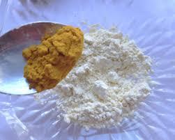 step two then add half a teaspoon of turmeric powder to it
