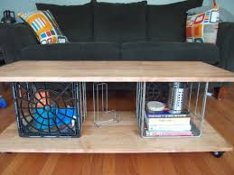 milk crate table