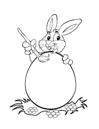 Easter Bunny Printable Coloring Pages Bunny Painting Eggs Free