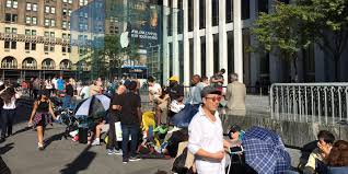 Lines yes but crowd less amped for iPhone 7 launch