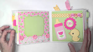 Baby Albums Doodlebug Baby Girl Mini Album Youtube