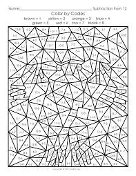 Free Printable Color By Number Worksheets Color By Number Printable
