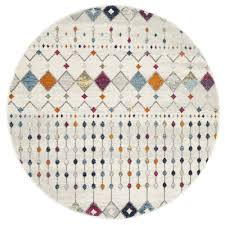 image is loading new anzali colourful power loomed modern round rug
