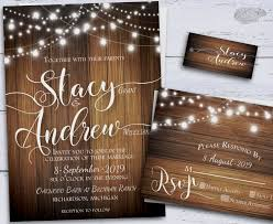 String Of Lights Rustic Wedding Invitation Pin On Backyard Wedding