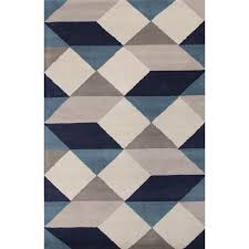 blue and gray area rugs jaipur en casa geometric rug navy image of bathroom black white remarkable plush for living room lattice s dining