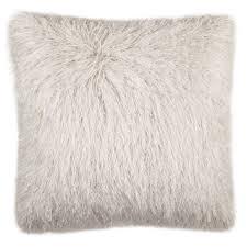 Safavieh 20-inch Shag Modish Metallic Metalic Snow Decorative Pillow  (PLS732B-2020)