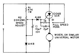 universal motor wiring diagram universal image universal motor speed control rpm control a bypass to full on universal motor wiring diagram