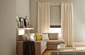 blinds and curtains. Contemporary And Daze Ivory Curtains Layered With Joya Roller Blind And Norfolk Charcoal  With Blinds And Curtains D