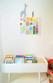 diy book bin for kids made from a drawer