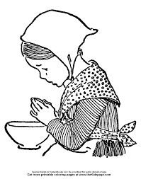 free coloring pages children praying