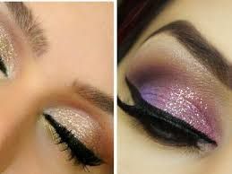pink or brown eye shadow