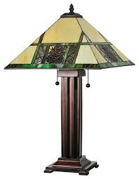 meyda tiffany pinecone mission tiffany table lamp x 15876