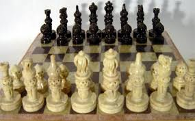 Game With Stones And Wooden Board Square Soapstone Marble Chess Pieces IndiaWooden Frame Chess 68