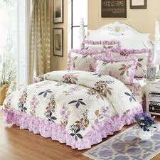 4 100 cotton thick quilted bedspread set purple pink floarl bedding sets queen king size soft duvet cover pillowcases queen duvet cover set duvet set queen