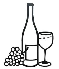 grapes clipart black and white. wine bottle outline clipart glassjpg grapes black and white
