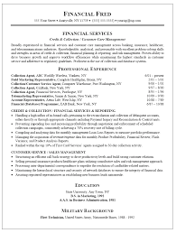 Debt Collector Resume collection resume sample Enderrealtyparkco 1