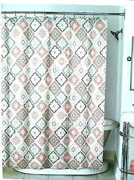 navy and gray shower curtain c teal tile medallion peach grey tan beige yellow white pe