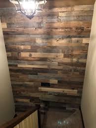 grey barnwood planks decorative wall
