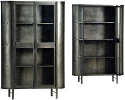 Metal Glass Display Cabinet Industrial Reclaimed Wood Mailbox Sideboard On Wheels