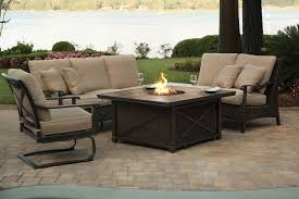fabulous patio fire pit set backyard design inspiration agio franklin patio sectional firepit set