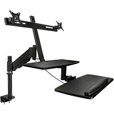 mount it mi 7902 sit stand desk mount for dual monitors