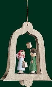 Christbaumschmuck Glocken Mettenkinder Baumbehang