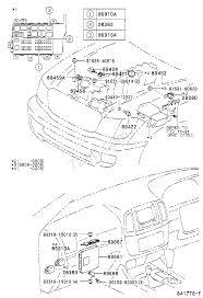 Electronic fuel injection system engine room illust no 1 of 2 9801 fzj105 rhd toyota land cruiser 100 fzj10 hdj100 hzj105 uzj100 asia and middle